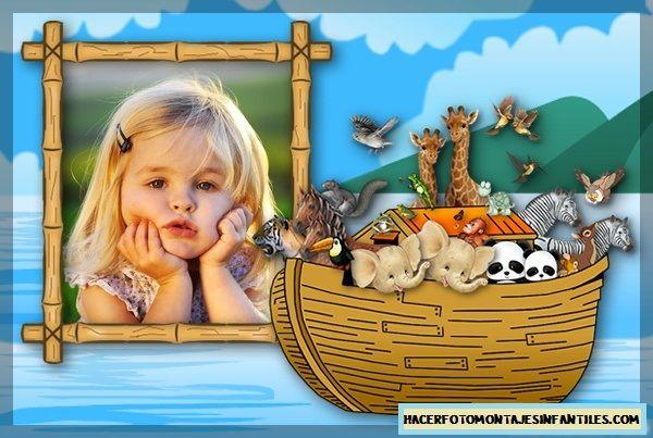 Fotomontajes infantiles de arca de Noe