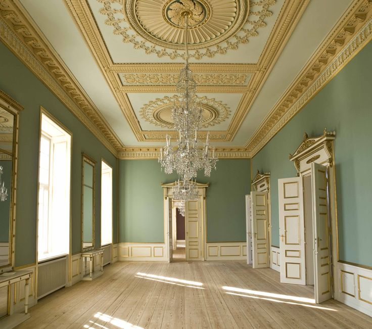 Amalienborg » The colours of the Empire style interior in Frederik VIII's Palace…