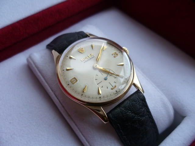 Vintage Rolex Precision 9ct Gold