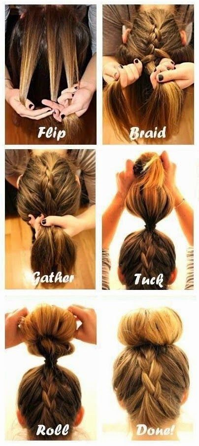 long hair models – braids are hairstyles for every occasion. Casual day school …