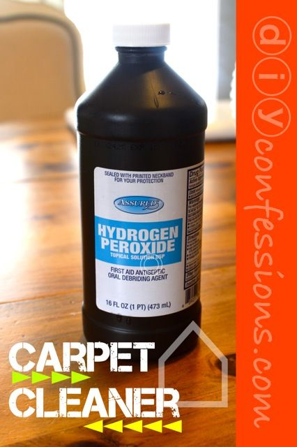 Hydrogen Peroxide Carpet Cleaner I Have Used It For
