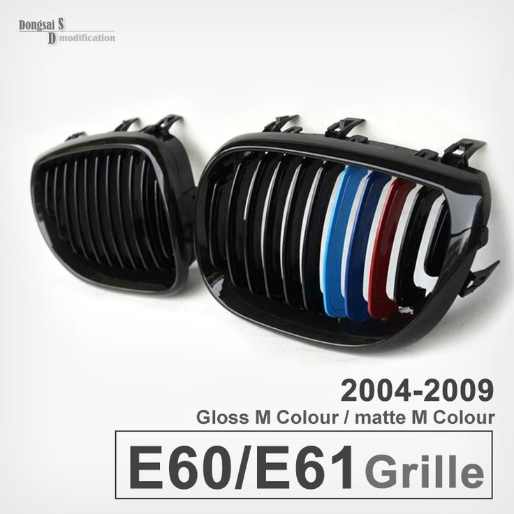 (77.50$)  Buy here - http://aivis.worlditems.win/all/product.php?id=32276656449 - A Pair of Front  glossy  Black  M color Wide Kidney Grille Grill For BMW 5 series E60 525li 530i 523 528i 520i 2004-2009