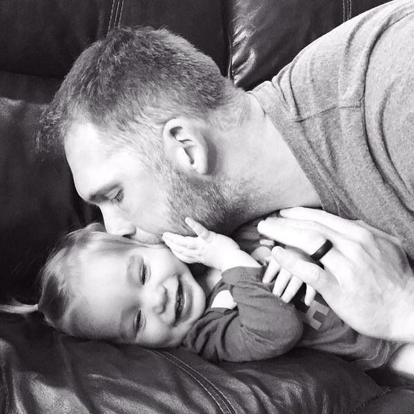 Love this pic {Brady with lil Viv}