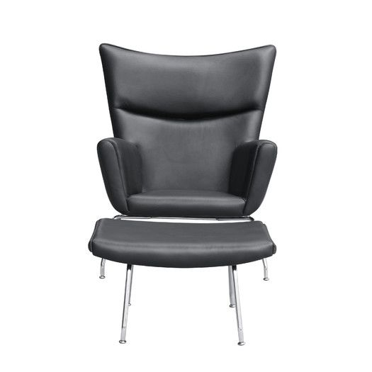 Fine Mod Imports Wing Lounge Chair and Ottoman Set | AllModern