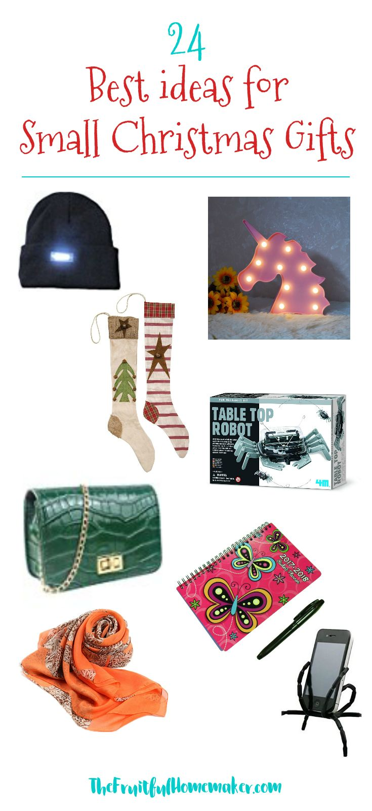 Best Ideas for Small Christmas Gifts. Holiday gift guide for teacher gifts, stocking fillers, Secret Santa and other small gifts you need to by this Christmas.