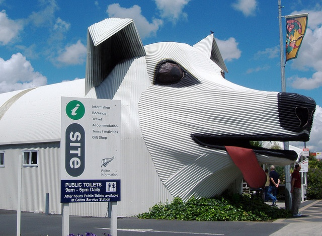 Corrugated Iron Sheep Dog by KiwiHugger, via Flickr