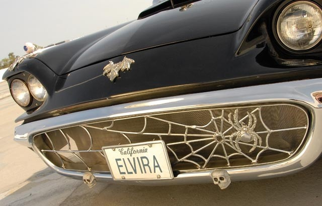 Elvira's car. Great webs.: Elviras1958 Thunderbird, Elvira Cars, Wheels, Elvira 58, Vroom Vroom, Elvira Mistress, Dreams Cars, Halloween, Spiders Web
