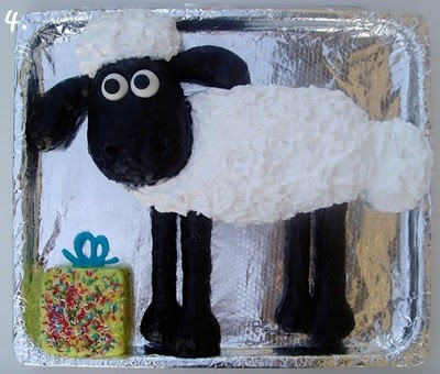 Possible 3rd bday party cake for William. He loves Shaun the Sheep!