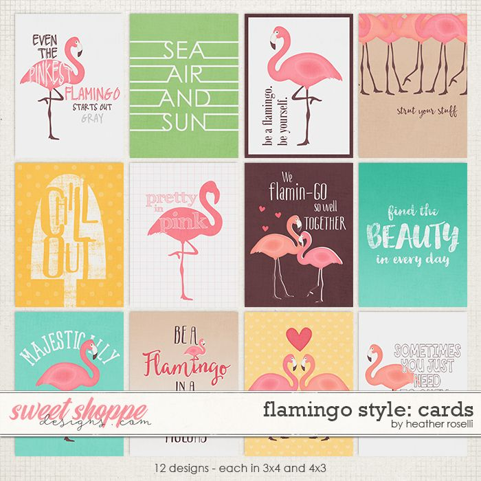 Flamingo Style: Cards by Heather Roselli