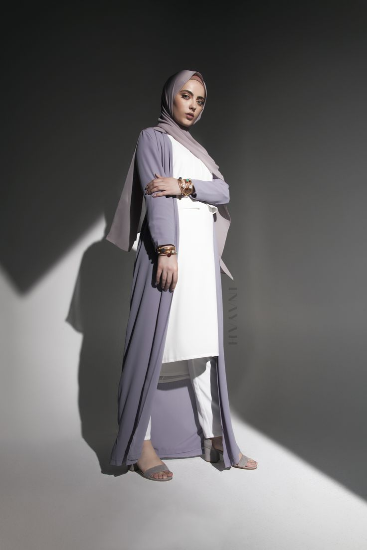 INAYAH | Modest fashion at its finest - Lilac Grey Oversized Maxi #Kimono…