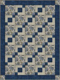 Stepping Stones Downloadable Quilt Pattern Easy 3 by FabricCafe