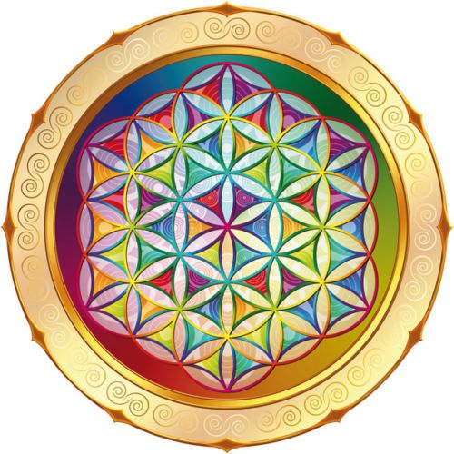 Blume-des-Lebens-15cm-Fensterbild-od-Sticker-Flower-of-Life-Mandala