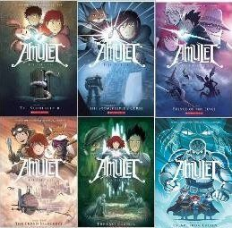 [AMULET] Amulet Series 6 Book set: AMULET- The Stonekeeper; The Stonekeeper's Curse; The Cloud Searchers; The Last Council; Prince of the Elves; Escape From Lucien