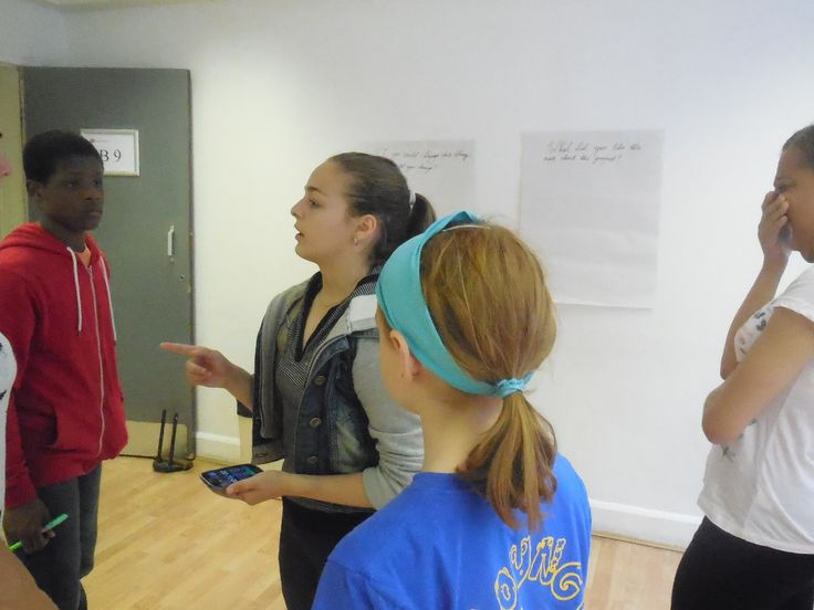 Anna leading a game on her first workshop!
