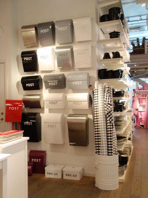 Bruka Design Post box.  Sleek, cheerful.