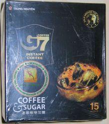 Trung Nguyen Coffee G7 2 in 1 - быстрорастворимый натуральный черный кофе с сахаром - 15 пакетиков в упаковке - 240 гр.