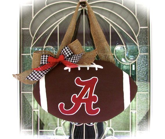 Alabama football door hanger