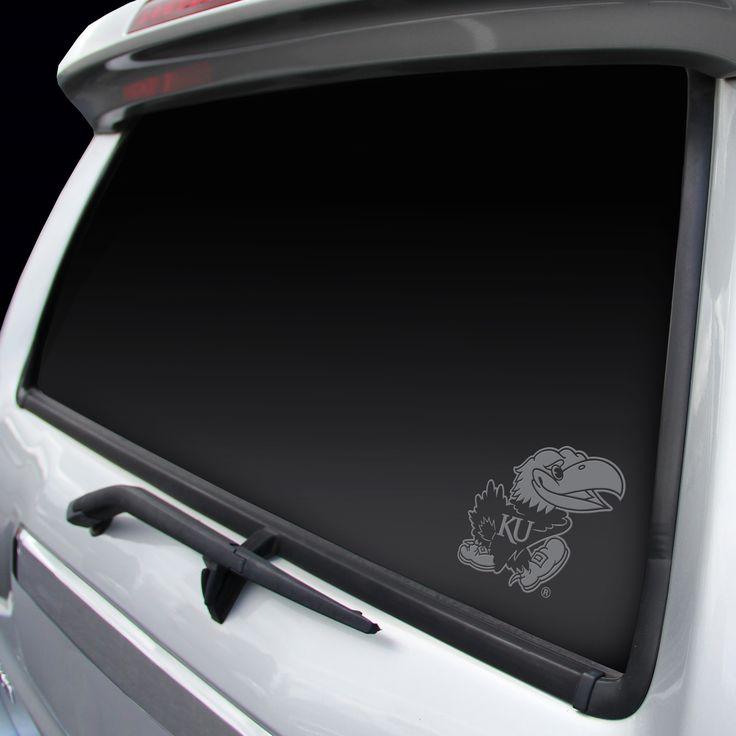 Kansas Jayhawks Chrome Window Graphic Decal