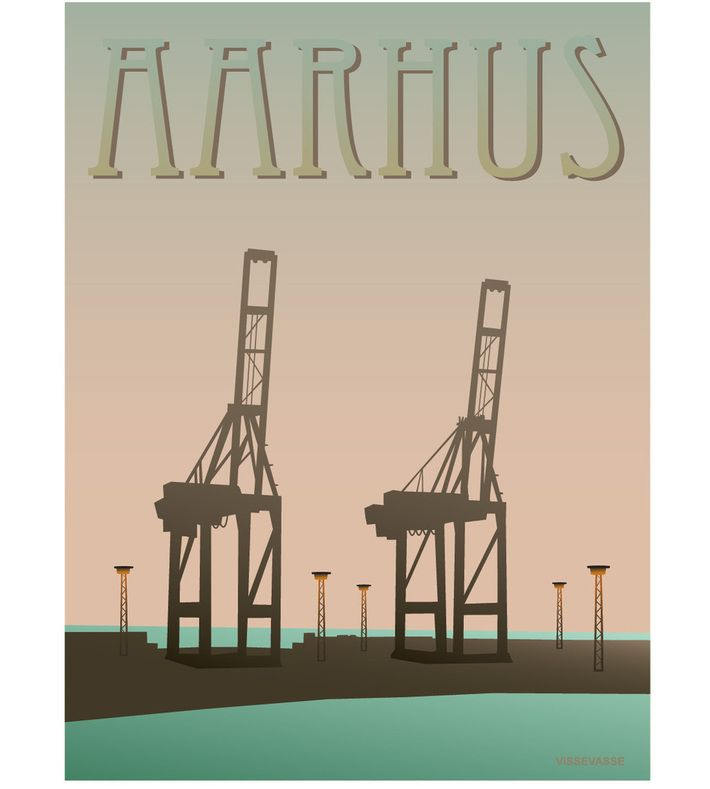 Aarhus - havnen. You can buy this piece at www.artrebels.com #artrebels #art #vissevasse