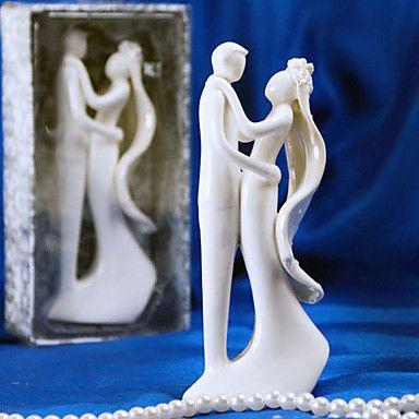 Taarttoppers Niet-persoonlijk Keramisch Bruiloft / Bruidsshower Wit Tuin Thema Cadeauverpakking – EUR € 14.69