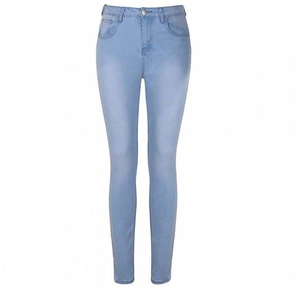 Ally Fashion Lt blue skinny jegging ($22) ❤ liked on Polyvore featuring pants, leggings, l blue, skinny leggings, white pants, white denim leggings, jean leggings and white trousers
