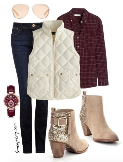 Cold Weather Fashion Trends   Glitter Boots and Quilted Vest! The Perfect Modest Everyday Style for Fall and Winter!