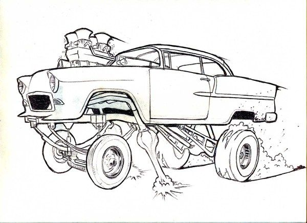 coloring pages 55 chevy gasser coloring pages