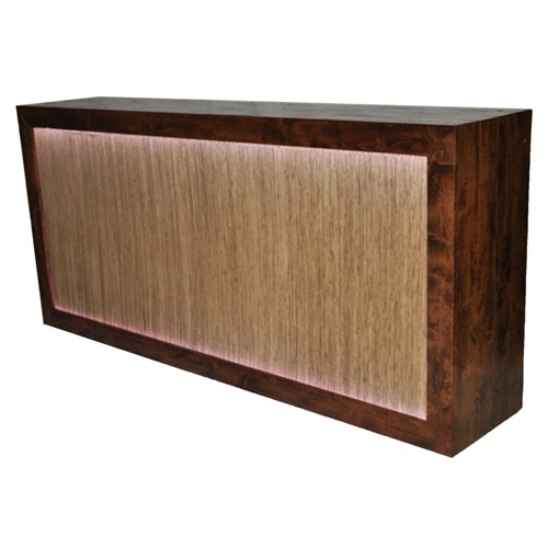 wooden bar, replace front with chevron fabric