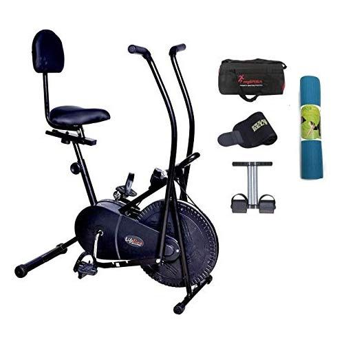 Lifeline 103bs exercise bike with gym bag and tummy trimmer black