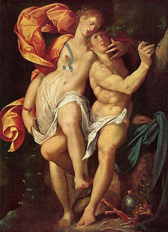 Angelica e Medoro. 1600 circa