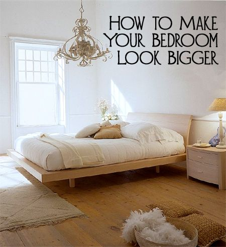 If your bedroom looks small and crowded, you may need to make a few changes instead of looking for a new house. Here are a few ways to make your bedroom look bigger.