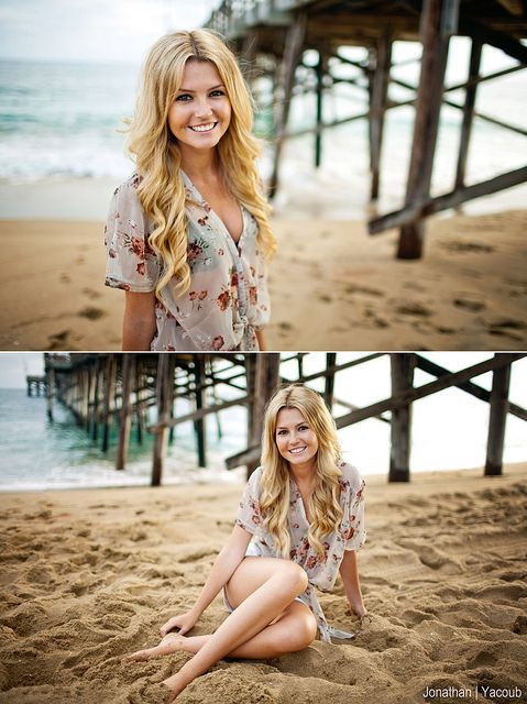 Beach Senior Pictures. I'd go to a beach just to do this.