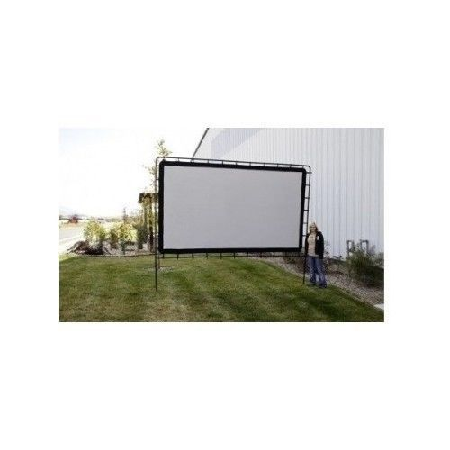 "The Indoor/Outdoor Super sized movie Screen 144 is the ultimate in portable screens. It features a huge 144"" screen made of durable Oxford nylon reflection material for high-resolution and enriched colors. A removable black backside blocks ambient light and detaches for rear projection."