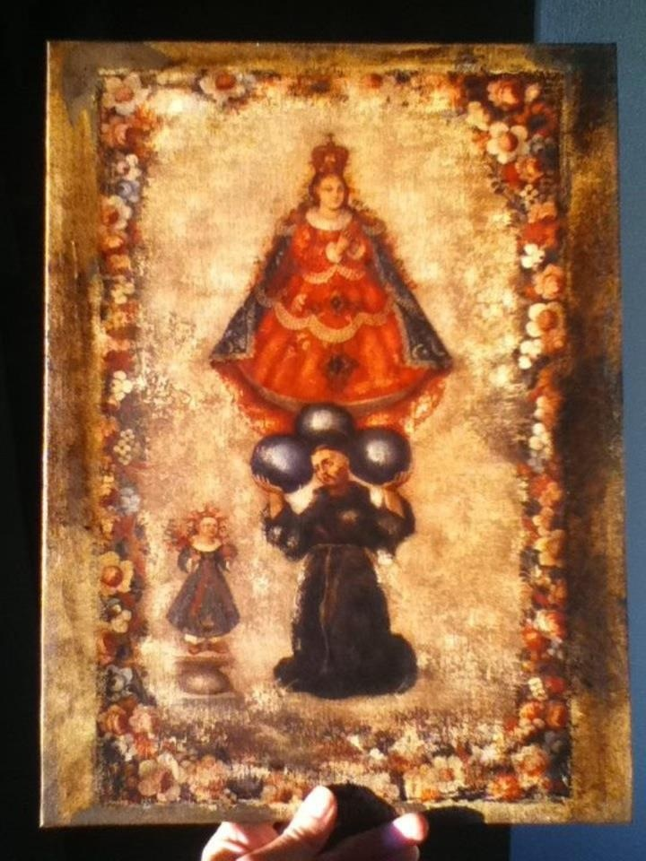 Virgen del pueblito en oleo
