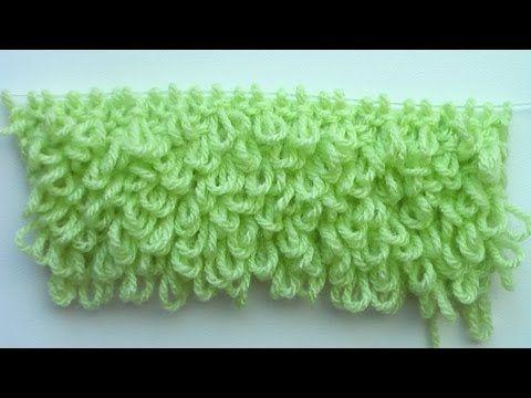 (Loop stitch) - Embossed Knitting Patterns- Free Knitting Tutorials - Watch Knitting- pattern 22 - YouTube