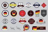 Realizado en Alemania, junta, de bandera alemana (arte vectorial)