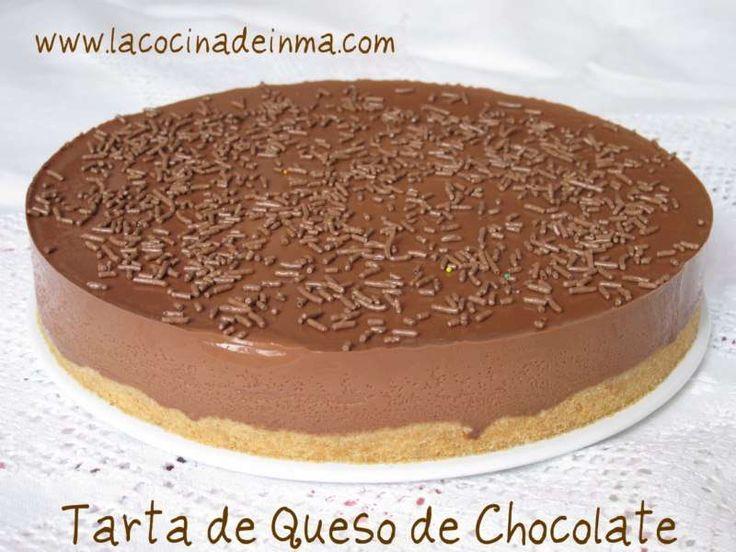 Tarta de Queso con chocolate, realmente deliciosa con una textura suave que se derrite en tu paladar.