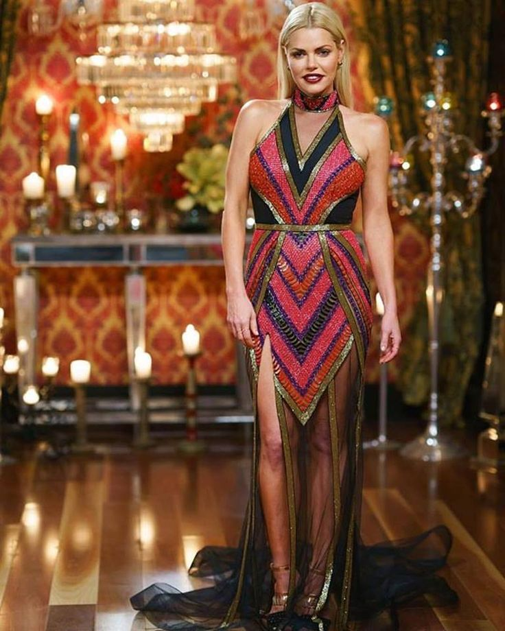 Sophie Monk wears a custom Philippa Galasso gown on the Bachelorette Australia