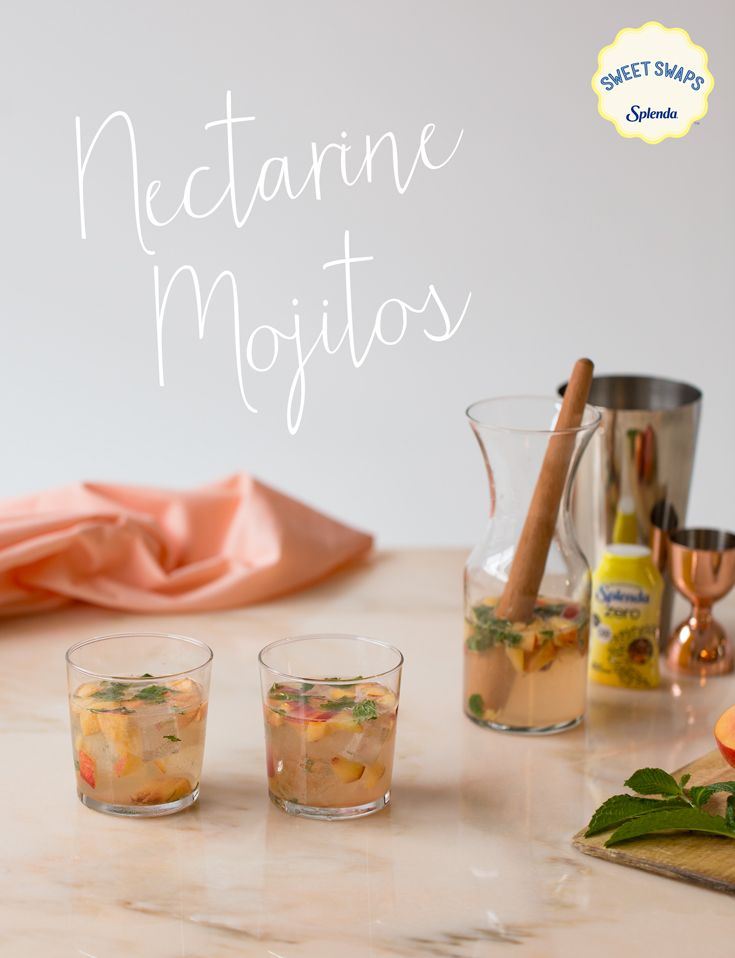 Spruce up your traditional mojito with more delicious fruit flavors. This Nectarine Mojito made with SPLENDA ZERO™ Liquid Sweetener, which has Zero Carbs, Zero Calories, AND Zero Sugar, makes it the perfect drink to accompany your outdoor dinner party. Light and refreshing for you and your favorite guests.