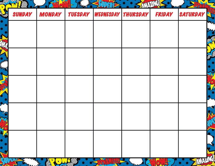 166 best Superhero Classroom Decorations images on Pinterest - classroom calendar template