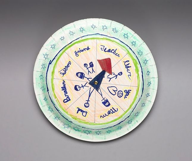 Circle of Kindness craft - Spin the arrow and decide what nice thing you can do for the person chosen by the pointer.