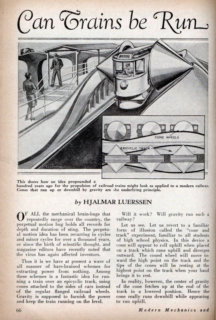Can Trains be Run by Perpetual Motion | Modern Mechanix