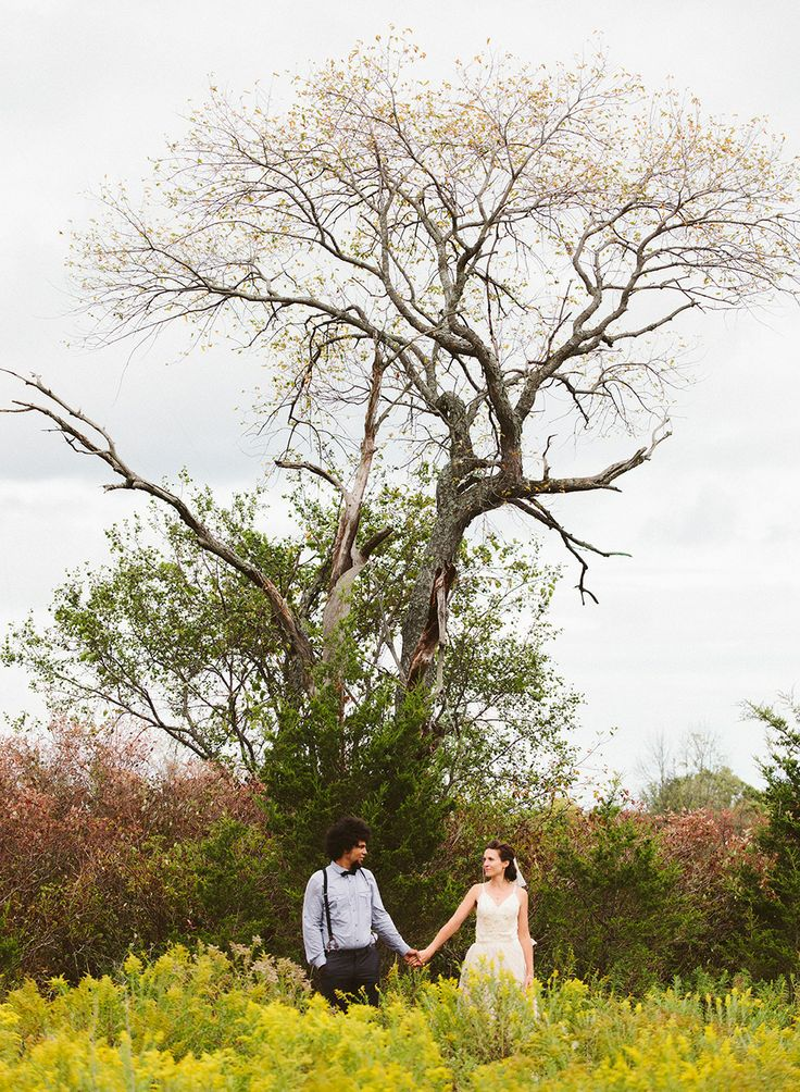 Farm wedding, lush nature and tall tree symbolic photo James Looker Photography www.JamesLooker.com