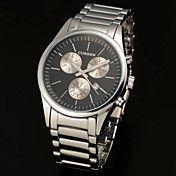 Menn Auto-Date Black Dial Silver Steel Band Q... – NOK kr. 157