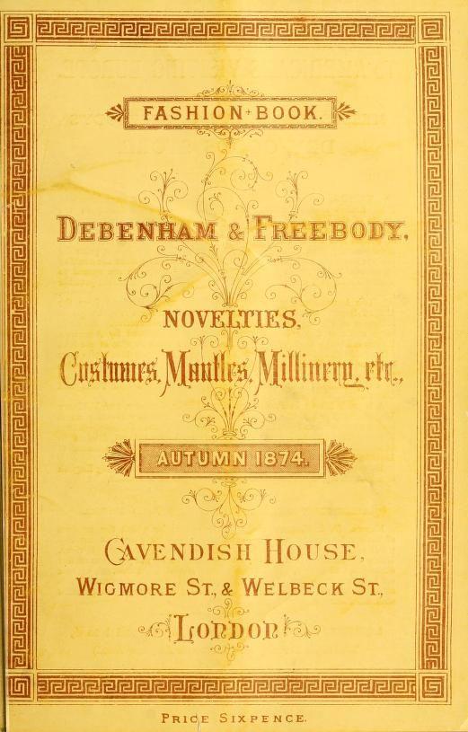 Catálogo de Moda 1874 - Londres