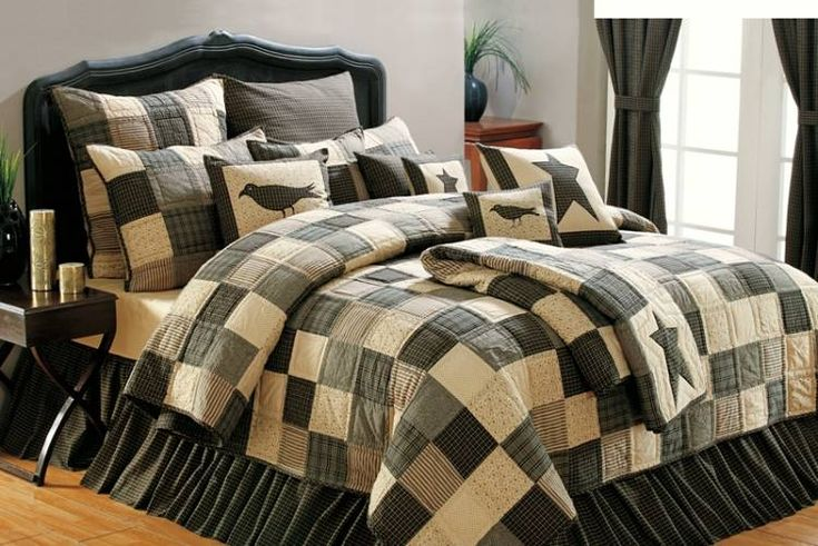 Country and Primitive Bedding, Quilts - Kettle Grove Bedding by Victorian Heart - Country Decor, Primitive Decor, Bedding, Braided Rugs