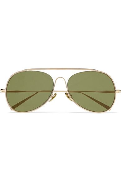 Acne Studios - Spitfire Aviator-style Gold-tone Mirrored Sunglasses - one size
