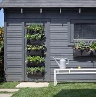 Woolly Pocket Living Wall Modules Used To Make Sheds A Real Feature Of Any  Outdoor Space
