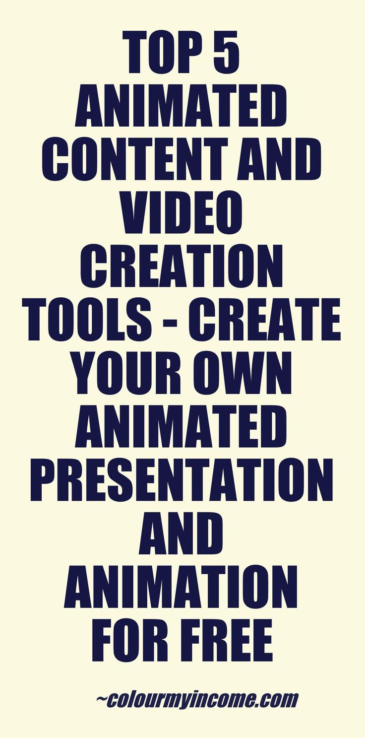 FREE Animation Video Creator Tools - CLICK HERE> http://www.colourmyincome.com/2014/top-5-animated-content-and-video-creation-tools/