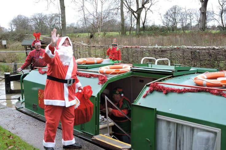 Father Christmas will soon be visiting the Wey and Arun Canal. Book a Santa cruise with us. Present from Santa for under 12's, mulled wine and mince pies for adults. New for this year is an additional Santa cruise for Grown-ups. Also trips on Boxing Day and New Years Day.  For dates, details and how to book, see www.weyandarun.co.uk/tripboats